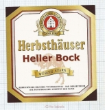 GERMANY - Micro,Herbsthäuser Brauerei Bad Mergentheim - HELLER BOCK - beer label