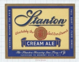 US - The Stanton Brewery Troy NY - CREAM ALE - beer label