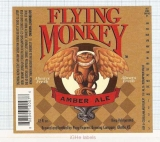 US - Micro, Pony Express Co Olathe KS - FLYING MONKEY Amber Ale - beer label