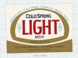 US - Cold Spring Brew Co Minnesota MN - LIGHT BEER - beer label