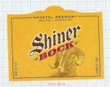 US - Spoetzl Brew Shiner TX - SHINER BOCK - beer label