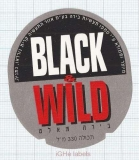 ISRAEL - T.B.I. Ltd. Netanya - BLACK & WILD - beer label