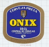 PORTUGAL - Central de Cervejas Coimbra - ONIX - beer label