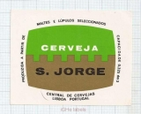PORTUGAL - Central de Cervejas Lisboa - S.JORGE - beer label