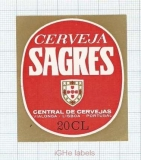 PORTUGAL - Central de Cervejas Vialonga Lisboa - SAGRES - beer label