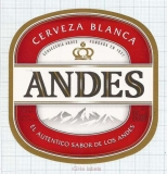 ARGENTINA - Quilmes, Buenos Aires - ANDES - beer label