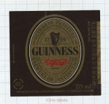 SCOTLAND (UK) - Scottish & Newcastle Edinburgh - GUINNESS -beer label