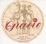 CZECHOSLOVAKIA - Valtice - GRACIE woman - wine label