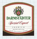 GERMANY - Darmstadt, SPEZIAL EXPORT (locomotive,train) - beer label