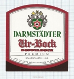 GERMANY - Darmstadt, URBOCK (locomotive,train) - beer label