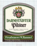 GERMANY - Darmstadt, PILSNER (locomotive,train) - beer label