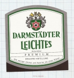 GERMANY - Darmstadt, LEICHTES (locomotive,train) - beer label