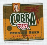 ENGLAND (UK) - Coors UK (MolsonCoors) Burton-On-Trent - COBRA snake - beer label