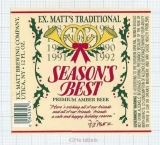 US - F.X. Matt Brew Co Utica NY - SEASON BEST christmas - beer label