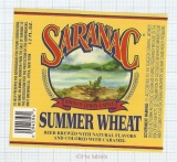 US - F.X. Matt Brew Co Utica NY - SARANAC Summer Wheat - beer label