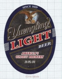 US - Yuengling Brew Pottsville, PA - LIGHT Beer - beer label