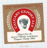 CANADA - Union Made for Calgary Brewing - EXPORT ALE - beer label