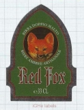 Belgium - Micro, Brouwerij Sterkens Meer - RED FOX - beer label