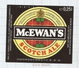BELGIUM - Bass Sales Mechelen - McEWAN'S Scotch Ale - beer label