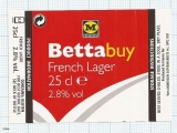 France - BETTA BUY, French lager - beer label