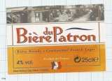 France - Bire du PATRON - beer label