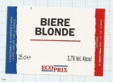 France - Biere Blonde, ECOPRIX - beer label