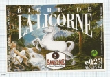 France - Saverne, LA LICORNE (woman) - beer label