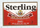 France - Villeneuve, d'Alsace, STERLING - beer label