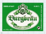 France - Biere d'Alsace. BIRGBRAU - beer label