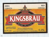 France - Longjumeau, KINGSBRAU - beer label