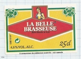 France - La Belle Brasseuse (woman) - beer label
