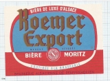 France - Pfaffenhoffen, Biere MORITZ, Roemer export - beer label