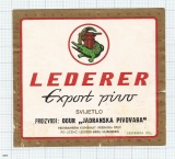 CROATIA (YUGOSLAVIA) - Split, LEDERER Export pivo - beer label