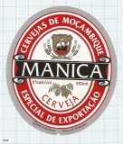 MOCAMBIQUE - MANICA cerveja (sailboat) - beer label