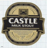 MOCAMBIQUE - SABMiler CASTLE Milk Stout 550ml - beer label