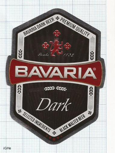 COSTA RICA - Cervecería Costa Rica San Jose - BAVARIA Dark Beer - beer label