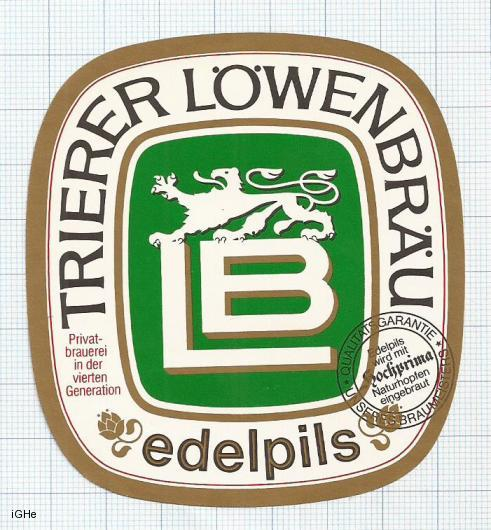 GERMANY - Lowenbrauerei Trier - EDELPILS - beer label