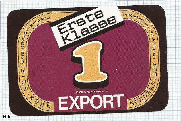 GERMANY - Nordestedt - ERSTE KLASSE EXPORT - beer label