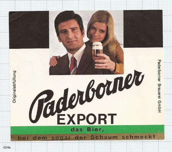 GERMANY - Paderborner Brau Paderborn - EXPORT - beer label