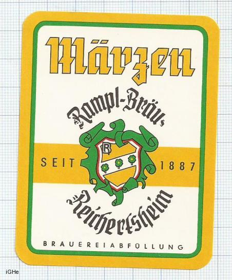 GERMANY - Rampl Brau Reichertsheim - Märzen - beer label