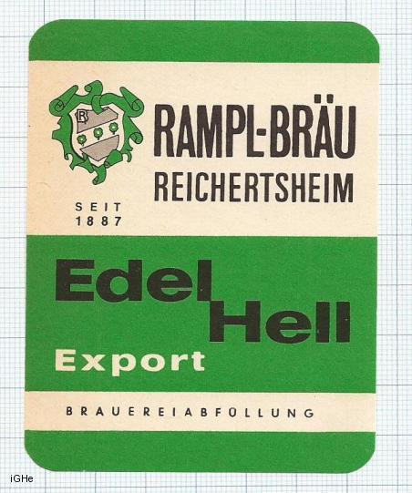 GERMANY - Rampl Brau Reichertsheim - EDEL HELL - beer label