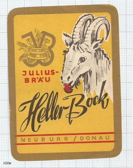 GERMANY - Julius Bräu Neuburg - HELLER BOCK - beer label