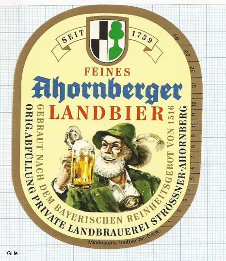 GERMANY - Landbrauerei Strößner-Bräu Konradsreuth - LANDBIER - beer label