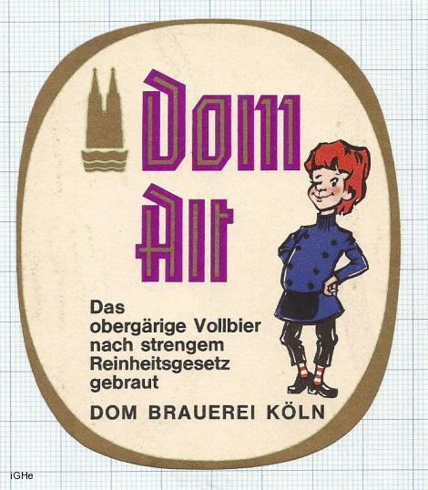 GERMANY - Dom Brauerei Koln - DOM ALT - beer label