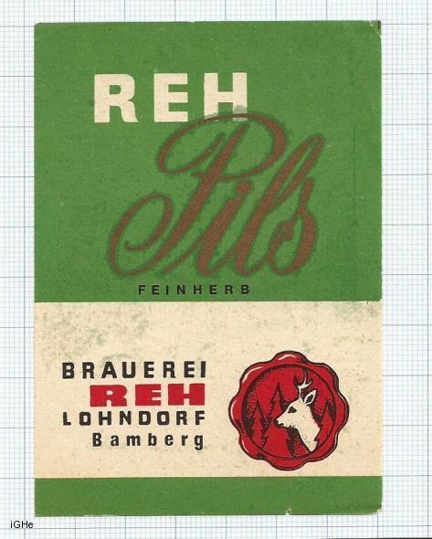 GERMANY - Brauerei Reh Lohndorf Bamberg - PILS - beer label