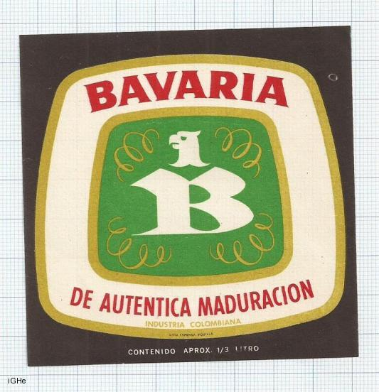 COLOMBIA - Bavaria - De autentica maduracion - beer label