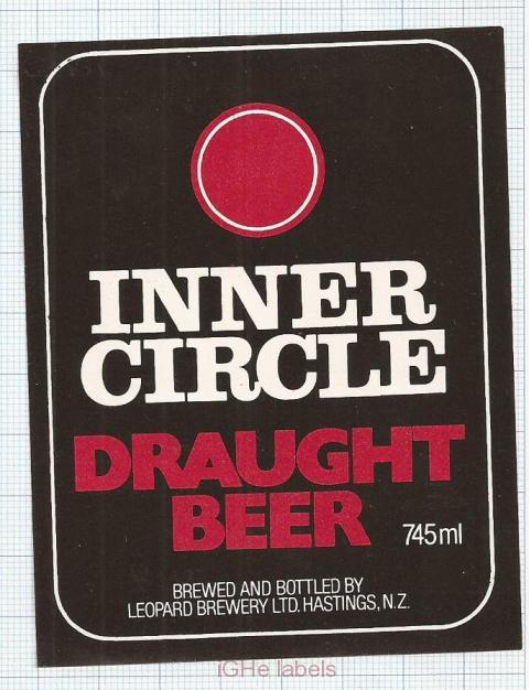 NEW ZEALAND - Leopard Brew Hastings - INNER CIRCLE - beer label