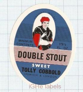 ENGLAND (UK) - Tollymache & Cobbold Ipswich - DOUBLE STOUT SWEET - beer label