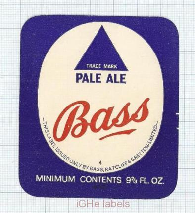 ENGLAND (UK) - Bass Ratcliff & Gretton - PALE ALE- beer label