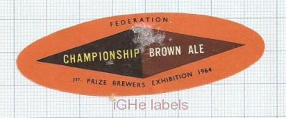 ENGLAND (UK) - Prize Brewers Championship Brown Ale - beer label
